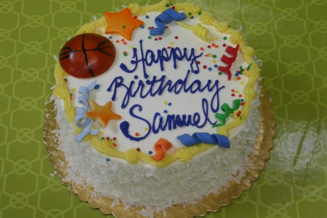 basket ball theme cake 3318