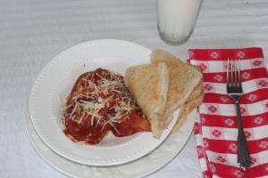 dinner of ravioli