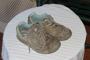 old work shoes