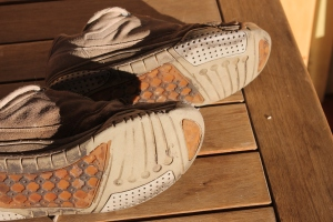 worn work shoes