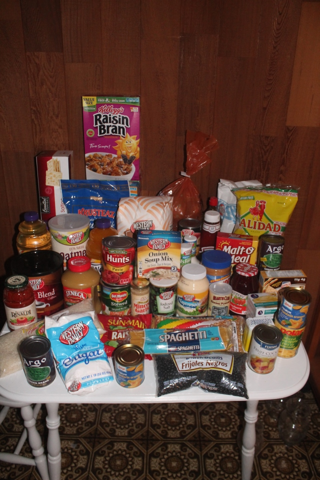 $120 groceries
