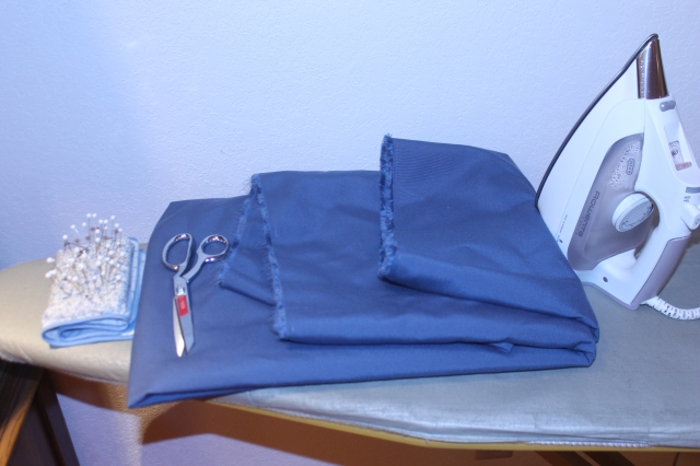 3yds blue fabric