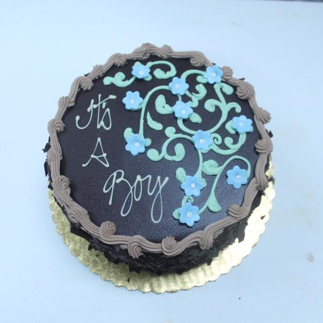 7896fondant flower baby cake