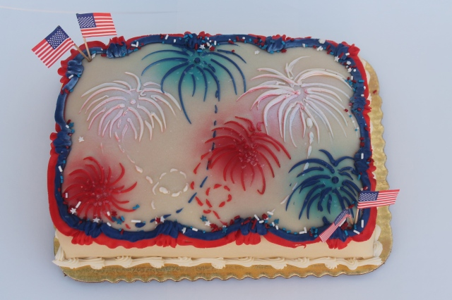 9826qtr prin fireworks & flags