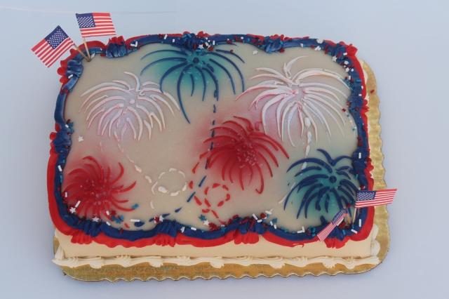 9826qtr prin fireworks & flags