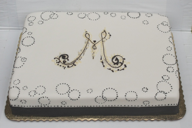 Sheet cake with Monogram