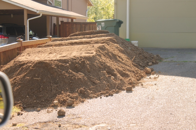 12 cubic yards of fill dirt