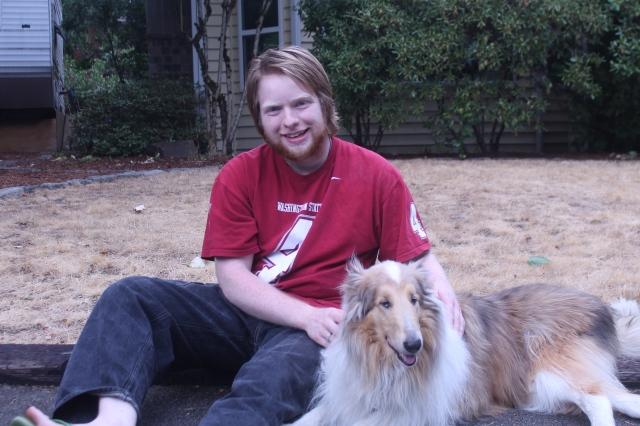 Nick was afraid of dogs before he met Glory. Now he has his own German Shepherd.