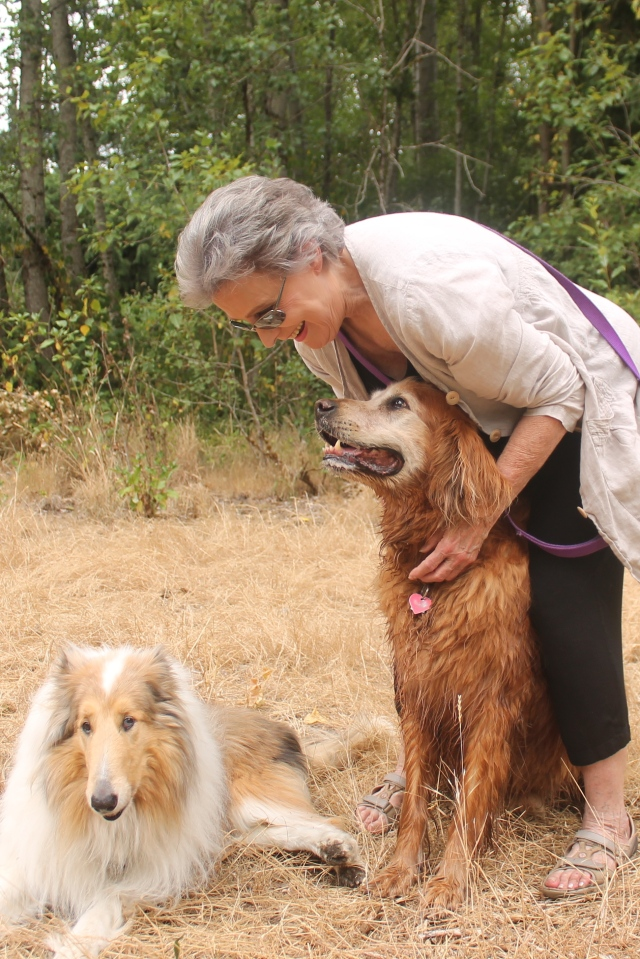 Barbara and Cedar Cedar doesn't belong to Barbara but she wants a walking companion so she barrows him every afternoon