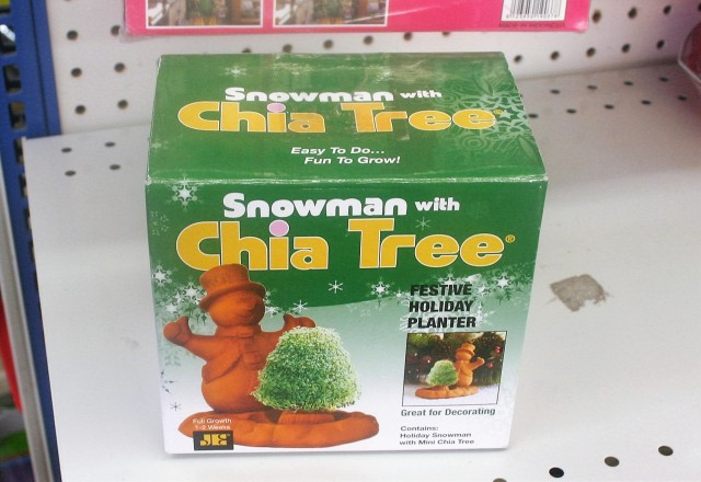 Snowman with Chia Tree $2.99