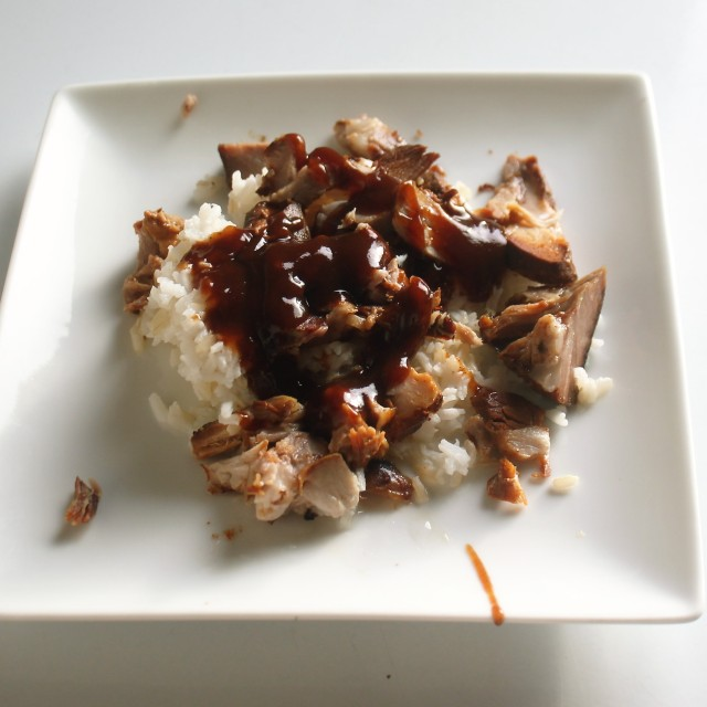 bbq pork over rice
