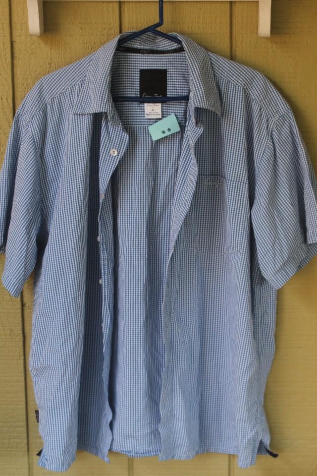 blue gingham shirt 55cents 1-23-16 SVdP