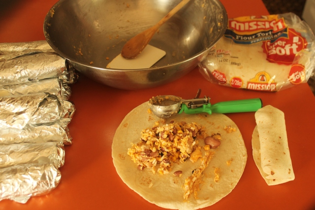 burrito making