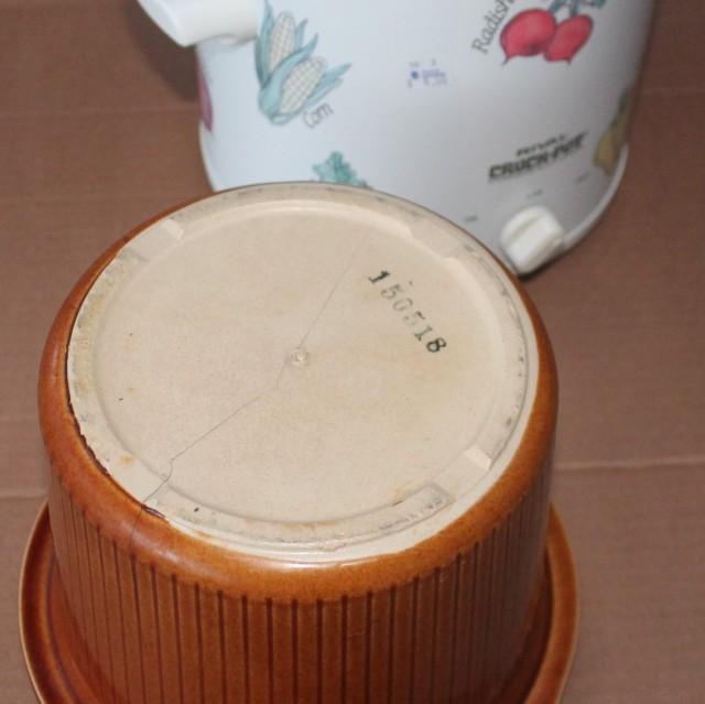 crack in crock pot